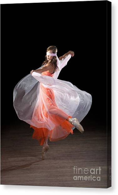 Dancing With Closed Eyes Canvas Print