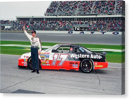 Nascar Canvas Print - Darrell Waltrip by Retro Images Archive