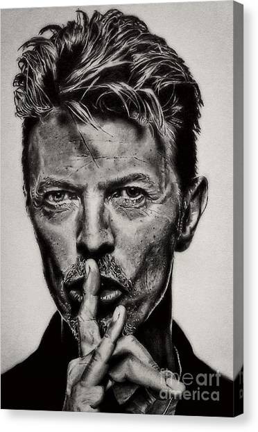 David Bowie - Pencil Abstract Canvas Print