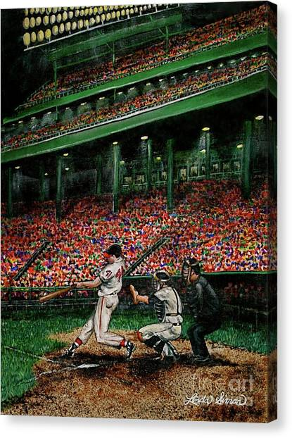 Derrek's Homerun Canvas Print