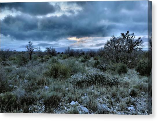 Desert Sunrises Canvas Print - Desert Sunrise by Stephen  Vecchiotti