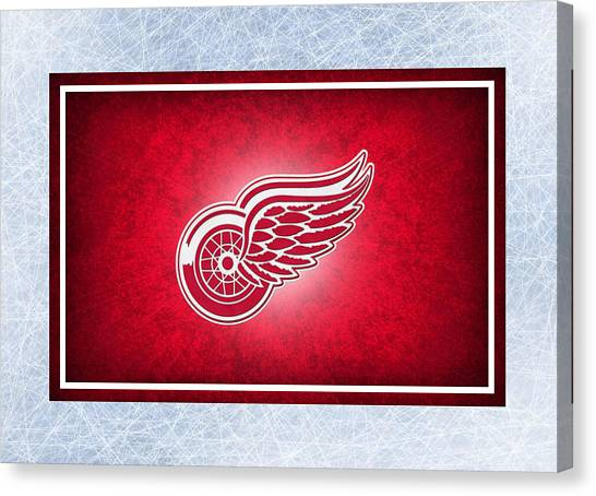 Detroit Red Wings Canvas Print - Detroit Red Wings by Joe Hamilton