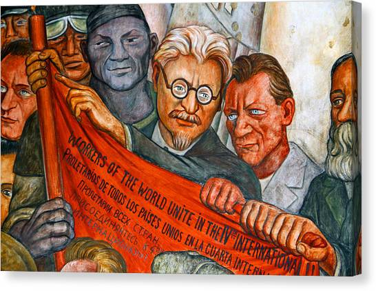 Diego Rivera Mural Mexico City Canvas Print