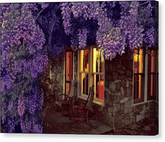 Beneath The Wisteria Canvas Print