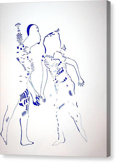 Gloria Canvas Print - Dinka Courtship - South Sudan by Gloria Ssali