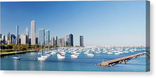 Downtown Chicago City Skyline In Canvas Print