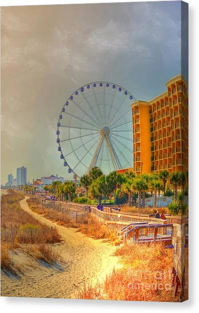 Downtown Myrtle Beach Canvas Print