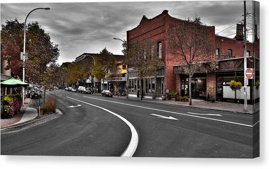 Washington State University Canvas Print - Downtown Pullman Washington by David Patterson