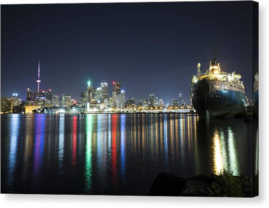 Toronto Skyline Canvas Print - Downtown Toronto by Mike Zhou
