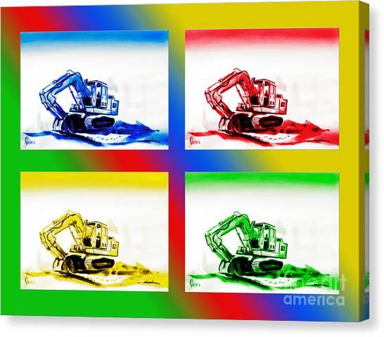 Caterpillers Canvas Print - Dozer Mania II by Kip DeVore