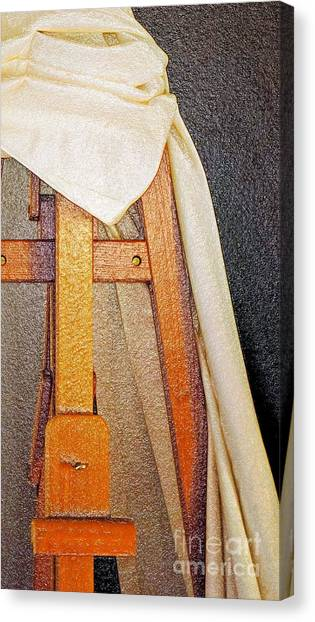 Draped Easel Canvas Print
