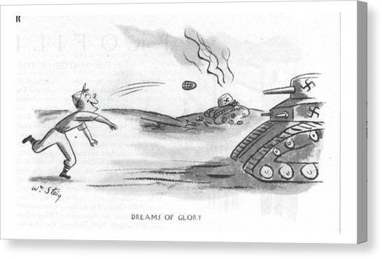 Grenades Canvas Print - Dreams Of Glory by William Steig