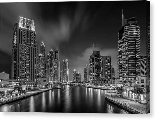 Dubai marina canvas print dubai marina by vinaya mohan