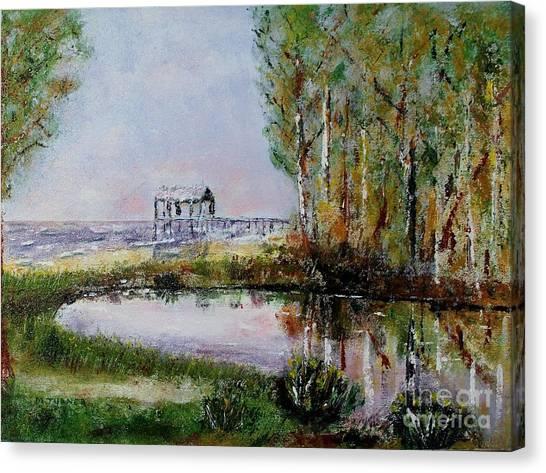 Fairhope Al. Duck Pond Canvas Print