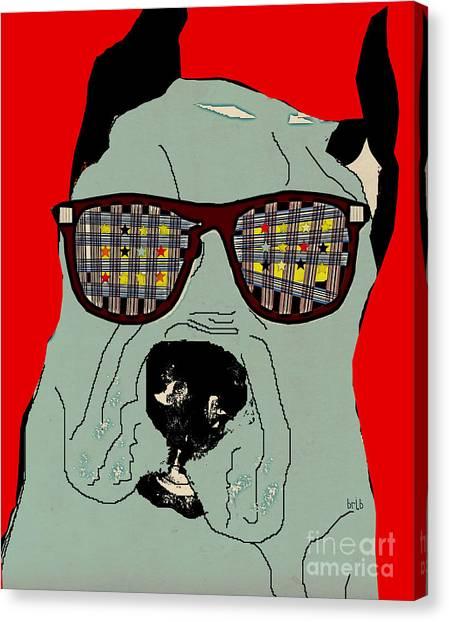 Great Danes Canvas Print - Dude by Bri Buckley