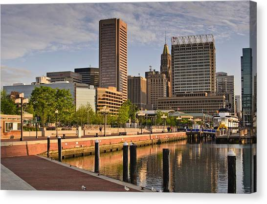 Early Morning Baltimore Inner Harbor Canvas Print