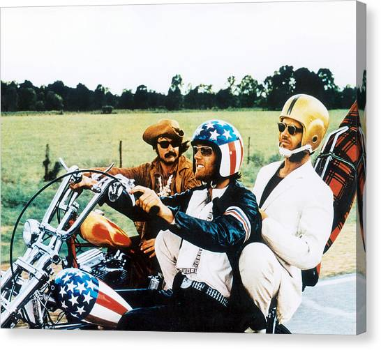 Jack Nicholson Canvas Print - Easy Rider  by Silver Screen