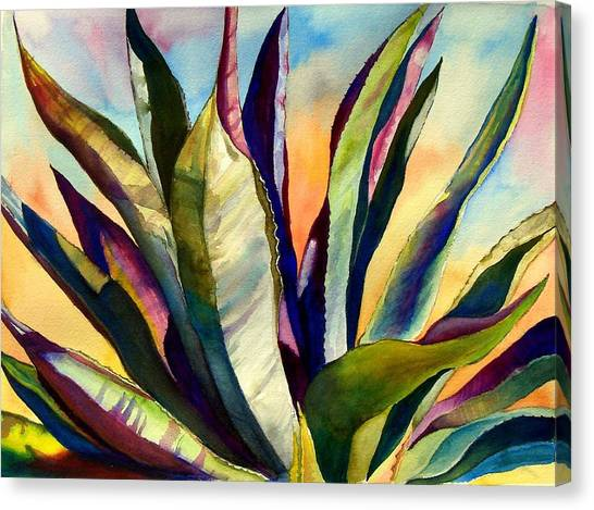 Electric Agave Canvas Print