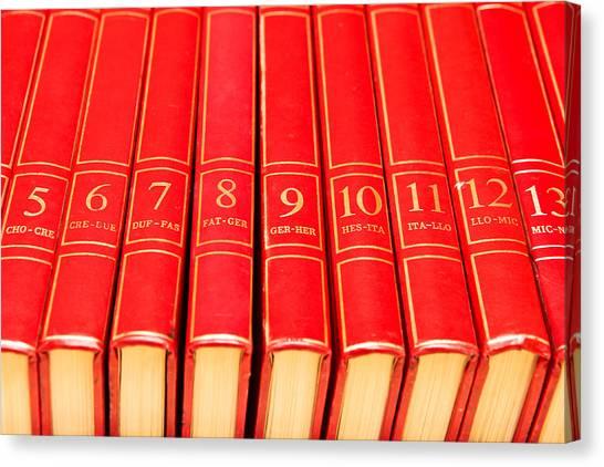 Academic Art Canvas Print - Encyclopedia by Tom Gowanlock
