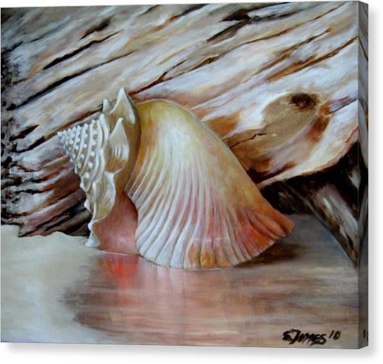 Entre Mares Y Arenas Canvas Print