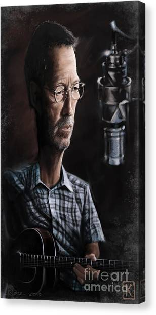 Eric Clapton Canvas Print - Eric Clapton by Andre Koekemoer