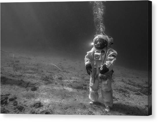 Astronauts Canvas Print - Esa Underwater Astronaut Training by Alexis Rosenfeld