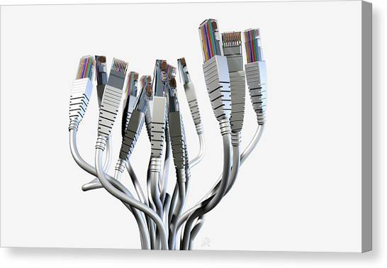 Transmission Canvas Print - Ethernet Abstract Bouquet by Allan Swart