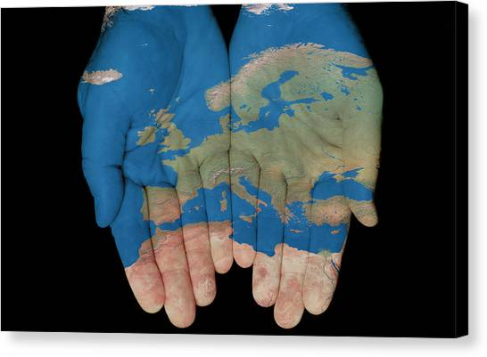 Europe In Our Hands Canvas Print