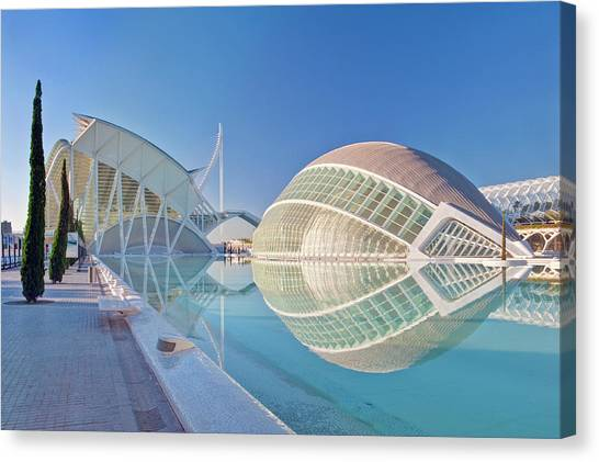 Architectural Detail Canvas Print - Europe, Spain, Valencia, City Of Arts by Rob Tilley