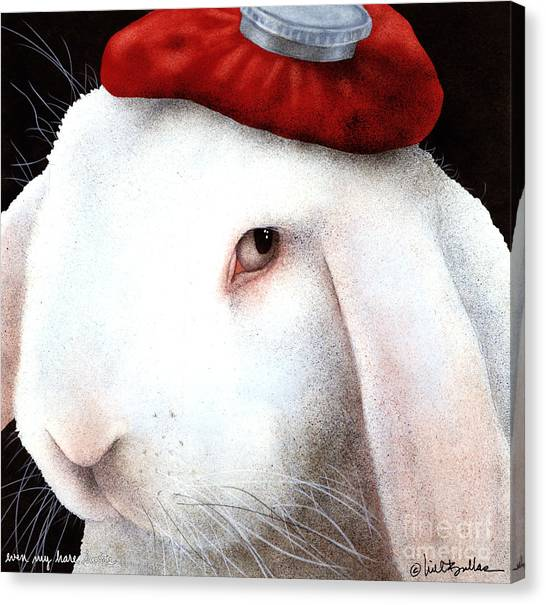 Even My Hare Hurts... Canvas Print by Will Bullas
