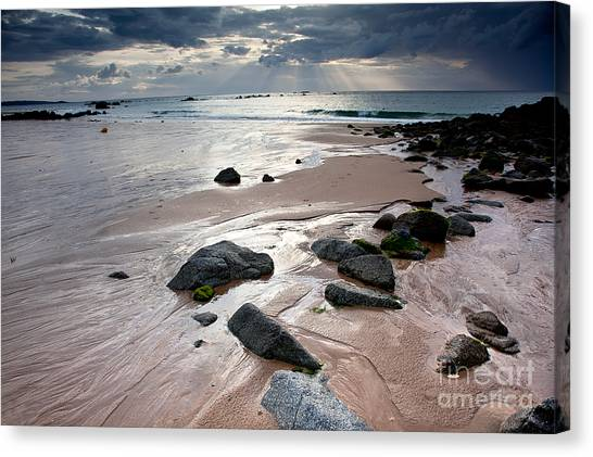 Destinations Canvas Print - Evening At The Sea by Nailia Schwarz
