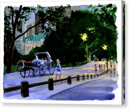 Evening Run Canvas Print