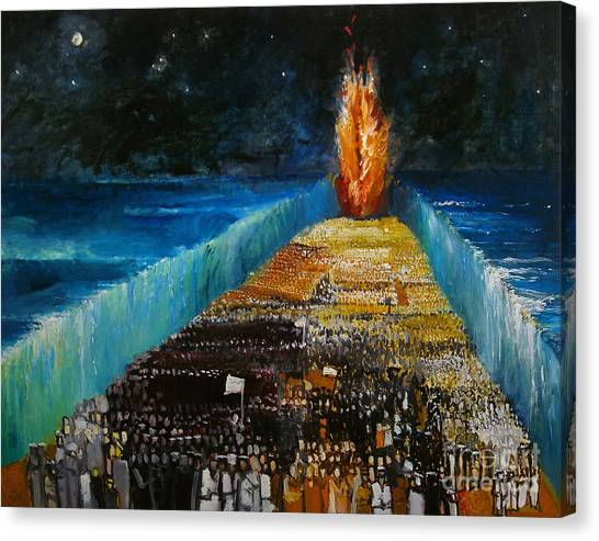 Old Testament Canvas Print - Exodus by Richard Mcbee