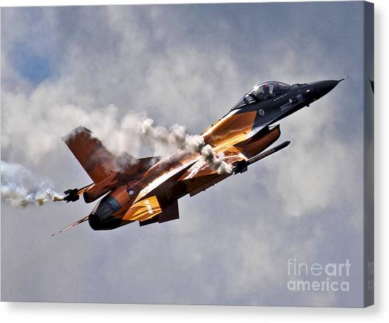 F16 Canvas Print - F16 Smoke On by J Biggadike