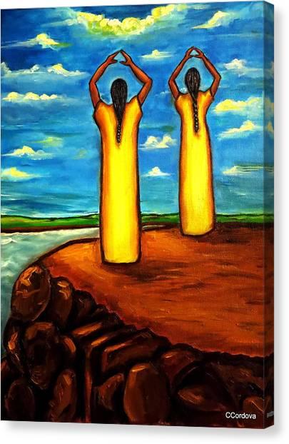 Faith And Hope Canvas Print by Carmen Cordova