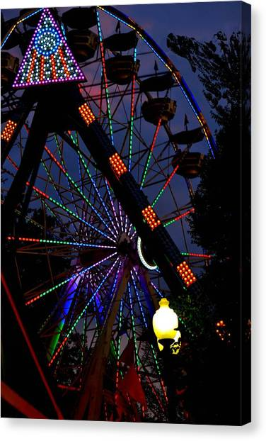 Fall Festival Ferris Wheel Canvas Print