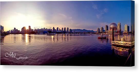 Vancouver Skyline Canvas Print - False Creek Skyline by Matt Mayer