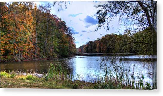 Farrington Lake Canvas Print by Louise Reeves