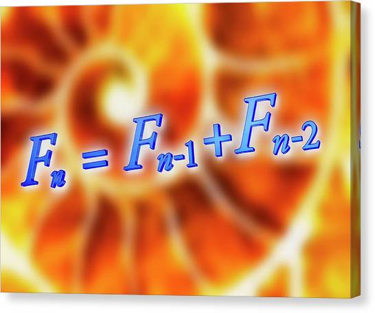 Fibonacci Canvas Print - Fibonacci Sequence Equation by Alfred Pasieka