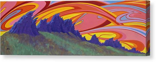 Fire Sky Over Devil's Backbone Canvas Print