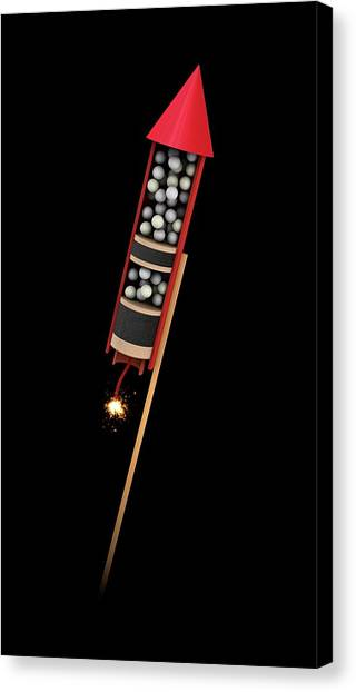 Pyrotechnic Canvas Print - Firework Structure by Mikkel Juul Jensen