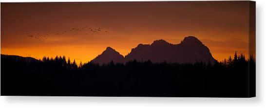 Flight To Saddle Mountain Canvas Print