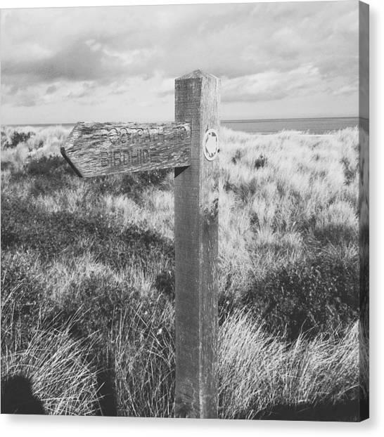 United Kingdom Canvas Print - Footpath Signpost II by Gemma Knight