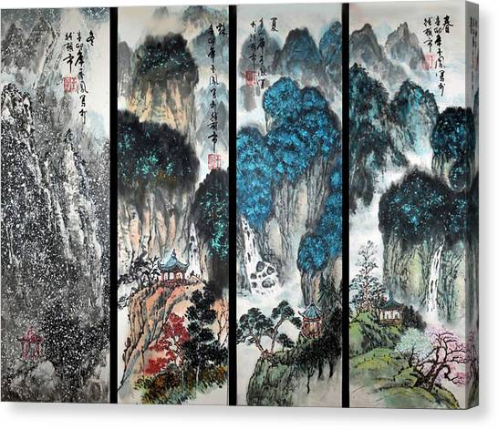 Four Seasons In Harmony Canvas Print