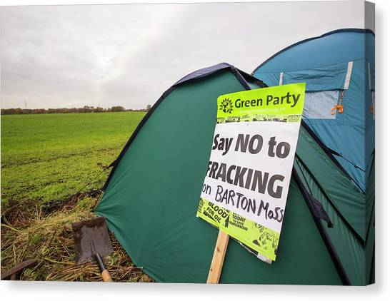 Fracking Canvas Print - Fracking Protest by Ashley Cooper