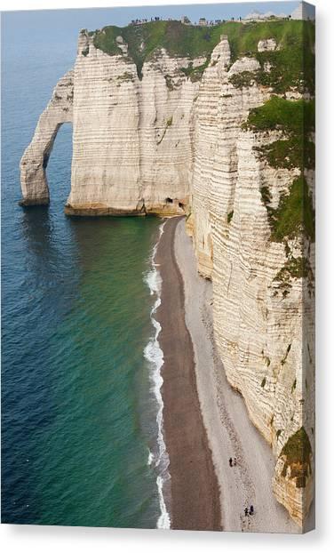 Ocean Cliffs Canvas Print - France, Normandy, Etretat, Falaise De by Walter Bibikow