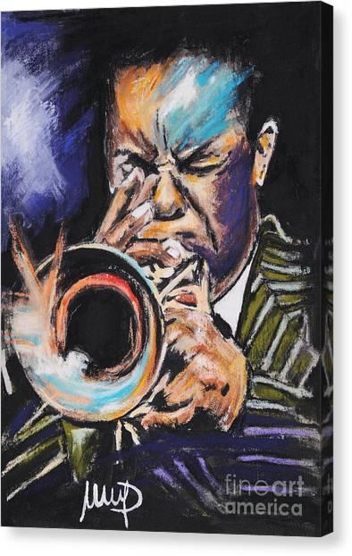 Trumpeters Canvas Print - Freddie Hubbard 1 by Melanie D