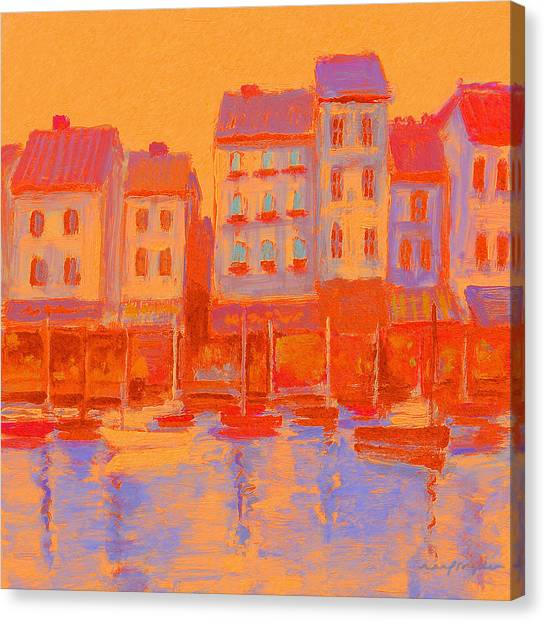 French Harbor Canvas Print