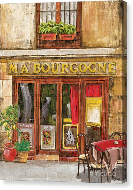 Street Scenes Canvas Print - French Storefront 1 by Debbie DeWitt