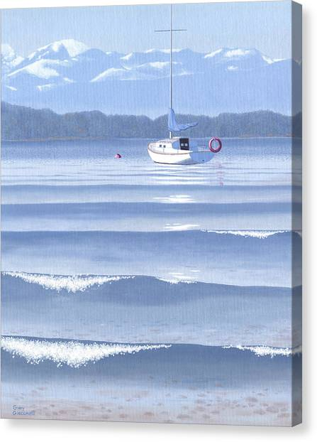 Vancouver Island Canvas Print - From The Beach by Gary Giacomelli